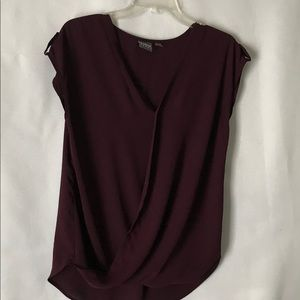 New York and company/V neck wrap soho shirt